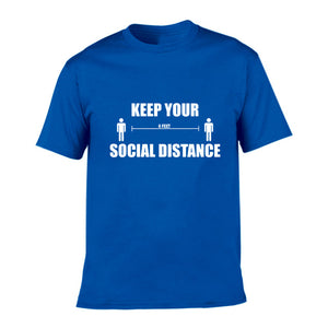 Keep Your Social Distance T Shirt Men Casual O-Neck Short Sleeve  Tshirt Funny T-shirt HipHop Streetwear T-shirt Men Top Tee