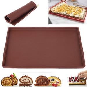 Kitchen Silicone Bakeware Baking Dishes Pastry Bakeware Baking Tray Oven Rolling Kitchen Bakeware Mat Sheet