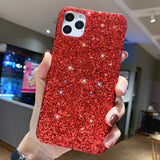 Luxury Sparkle Glitter Phone Case for IPhone 11 Pro XS X Xr Xs Max 8 7 6 6s Plus SE 2020 Christmas Sequins Slim Cover