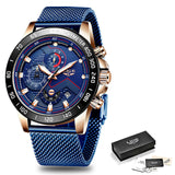 Casual Mens Watches Top Brand Sports Chronograph Quartz Watch