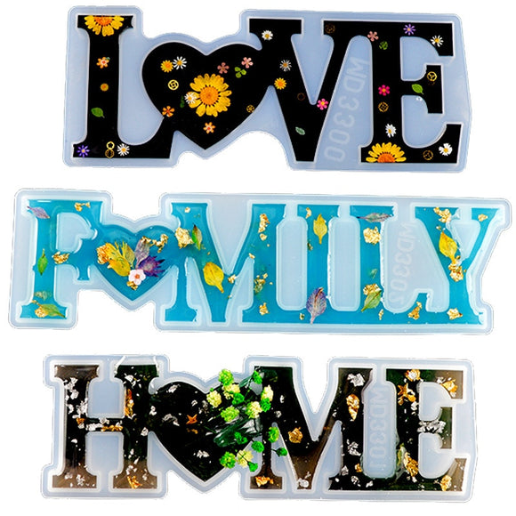 LOVE HOME FAMILY DIY Crystal Epoxy Resin Mold Ornament Making Silicone Mold Making Tool Christmas Decorative Craft TSLM1