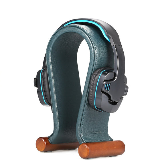 Leather Headphone Stand Universal Gaming Headset Holder Headphone Support rubber feet, non-slip, stable for headset