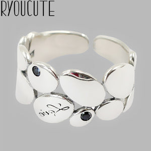 Luxury Brand Silver Color  Leaf Rings for Women Antique Rings Wedding Jewelry Valentines Gifts