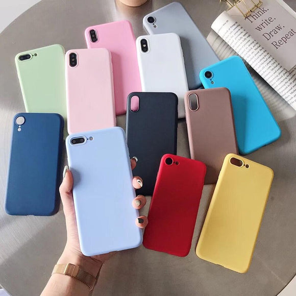 Luxury Candy Soft Silicone Cover For HUAWEI P10 Plus P20 P20lite P20pro P30 Lite P40 Pro Mate 9 10 Lite 20 30 Pro X Phone Case