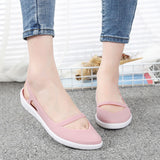 Summer Women Sandals Soft Flat Slip On Female Casual Jelly Shoes Girl Sandals Hollow Out Mesh Flats Beach Footwear New