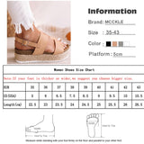 Gladiator Open Toe Sandals Hemp Platform Shoes Female Casual Ladies Sandals Plus Size