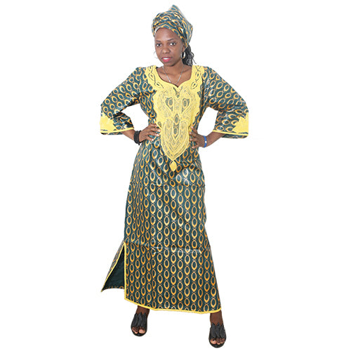 New Africa Dresses For Women Bazin Dashiki African Women Dresses Embro Shopeershub