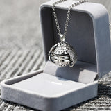 Magic 4 Photo Pendant Necklace Memory Floating Locket Necklace Angel Wings Flash Box Fashion Album Box Necklaces Collares Mujer
