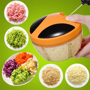 Manual Fruit Vegetable Chopper Hand Pull Food Cutter Onion Nuts Grinder Mincer Shredder Multifunction Kitchen Accessories