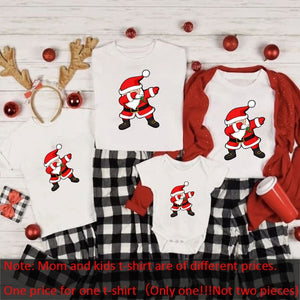 Merry Christmas Family Shirts Family Christmas T-Shirts Mommy and Me T-Shirt Family Matching Christmas printing Clothes