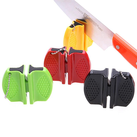 Mini Ceramic Rod Knife Sharpener Two-stage Tungsten Portable Butterfly Type Whetstone Sharpener