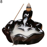 Mini Portable Incense Burners Holder Censer Ceramic Waterfall Backflow Design Diffuser Exquisite Classic Home Decoration