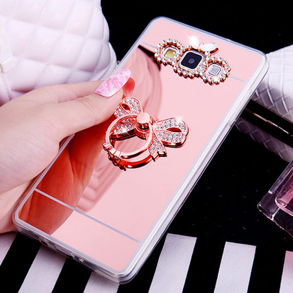 Mirror Case Soft TPU Gel Luxury Cover For Samsung Galaxy S10 S9 S8 Plus Acrylic Coque Note 8 5 J2 Prime J3 J4 J5 J6 J7 2016 2017
