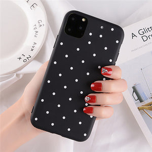 Polka Dots Phone Case For iphone 11 7 6 6s Plus Fashion Wave Point Fresh Cover Soft TPU Cover For iphone X XS Max XR