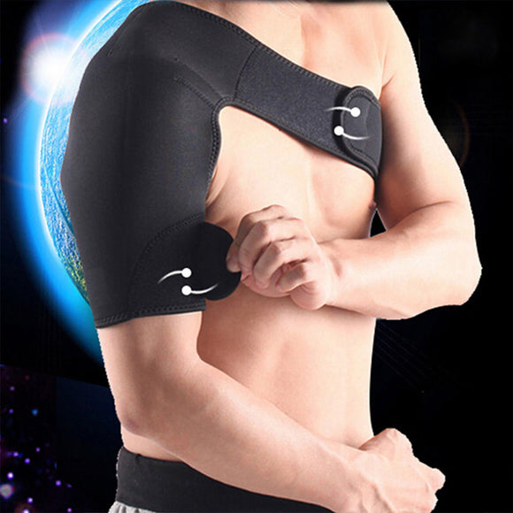 Neoprene Brace Dislocation Arthritis Pain Shoulder Support Strap right arm