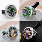 Doterra Car Clip Vent Aromatherapy Locket Pendants Essential Oils Stainless Steel Diffuser Locket with Pads