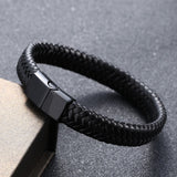 New Punk Men Jewelry Leather Bracelet Men Women Fashion Braided Handmade Charm