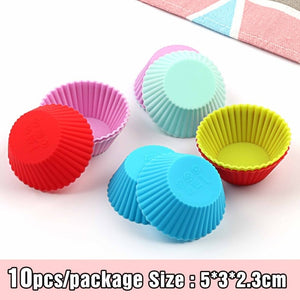 Nonstick and Heat Resistant Reusable Silicone  Hear Cake Molds Muffin DIY