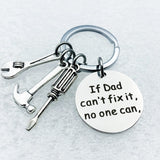 New geometric keychain pay attention to safety father and mother lover keychain gift jewelry couple father mother graduation gif