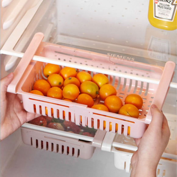 New refrigerator fresh storage rack retractable drawer type refrigerator storage box
