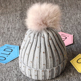 Newborn Baby Boy Girls lovely kintted Pompon Beanies Winter Caps
