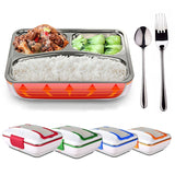 220V Electric Heated Lunch Box Portable Stainless Steel Bento Box Meal Warmer Food Container Lunchbox with Tableware