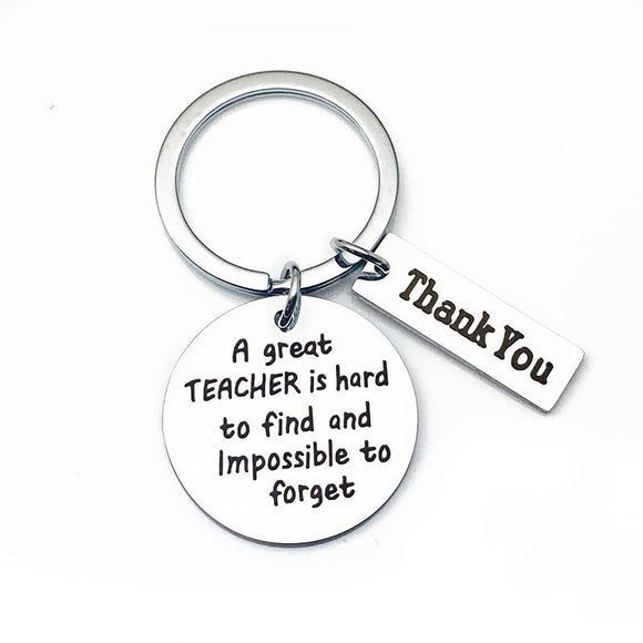 Charms Key Chain Man Great TEACHER Thank You Keychain Bags Lovers