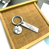 Creative Keychain Drive Safe I Need You Here with Me Man Key Chain Bags