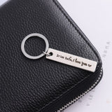 Simple Keychain Man Drive Safe I Love You Key Holder Bags