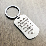 One Minute To Say I Love You One Hour To Explain It A Whole Life To Prove It Couple Fashion Keychain Couple Gift