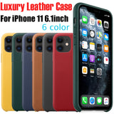 Original Leather Genuine Phone Case Ultra-Thin Luxury Leather Case Cover Skin For iPhone 11 11pro 11 Pro Max  #ND