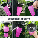 Portable Travel Outdoor Feed Bowl Drinking Water Jug Cup Dispenser