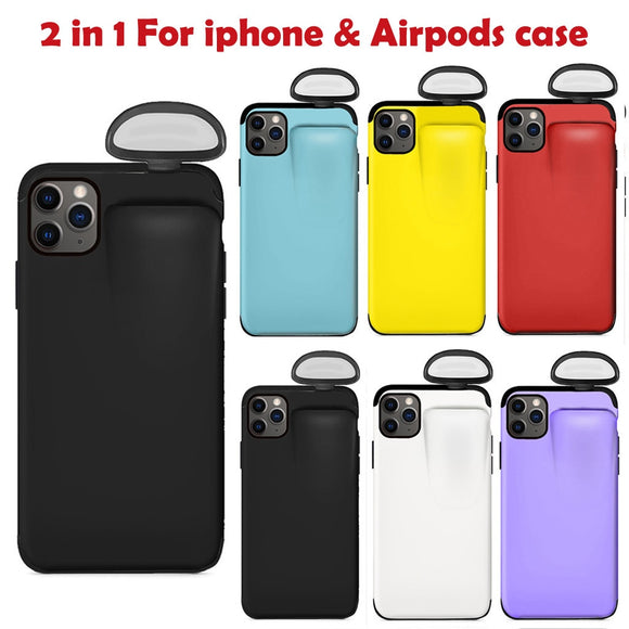 Phone Case For iPhone 11 Pro Max Case Xs Max Xr X 10 8 7 Plus Cover for AirPods Holder Hard Case New Design For AirPods Case Hot
