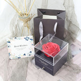 Jewelry Box Rose Gift Fake Rose Artificial Flower Christmas Gift Artificial Flower Birthday Mother's Girlfriend Gift