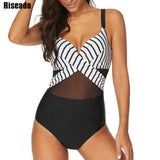 Gorgeous One Piece Swimsuit Push Up Swimwear Women Bandeau Swimsuits Black Bathing Suits