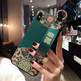 Rose Wristband Phone Case for Etui iPhone 11 Pro Soft TPU Flower Phone Holder Cover for iPhone 7 8 SE 6 Plus X XS XR XSMax Funda