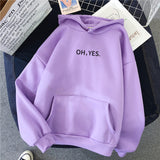Winter New Women Hoodies Oversized Sweatshirts Female Letter Harajuku Printed Pullover Thicken Loose Casual Clothes