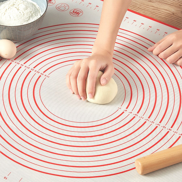 Silicone Baking Mats Sheet Pizza Dough Non-Stick Maker Holder Pastry Kitchen Gadgets