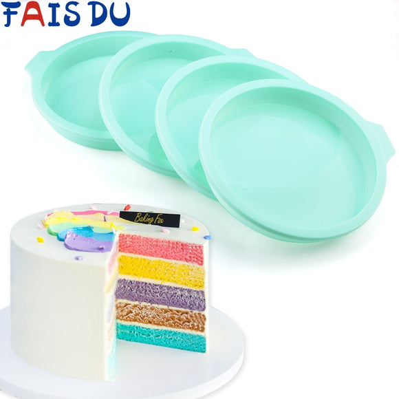 Silicone Layered Cake Round Shape Mold Kitchen Bakeware DIY Desserts Baking Mold Mousse Cake Moulds Baking Pan Tools