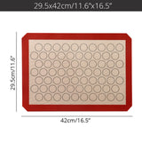Silicone Macaron Baking Mat - for Bake Pans - Macaroon/Pastry/Cookie Making - Professional Grade Nonstick