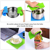 "Silicone Pot Holder, jar Opener,spoon Rest and Garlic Peeler, Flexible, Durable, Dishwasher Safe, Heat Resistant Hot Pads (7.2"")"