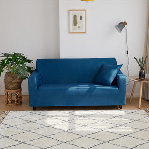 Solid Color Elastic Sofa Cover Spandex Modern Polyester Corner Sofa Couch Slipcover Chair Protector Living Room 1/2/3/4 Seater