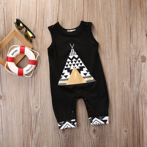 Baby Boy Girl sleeveless Romper Jumper Jumpsuit casual kid Outfit Clothes