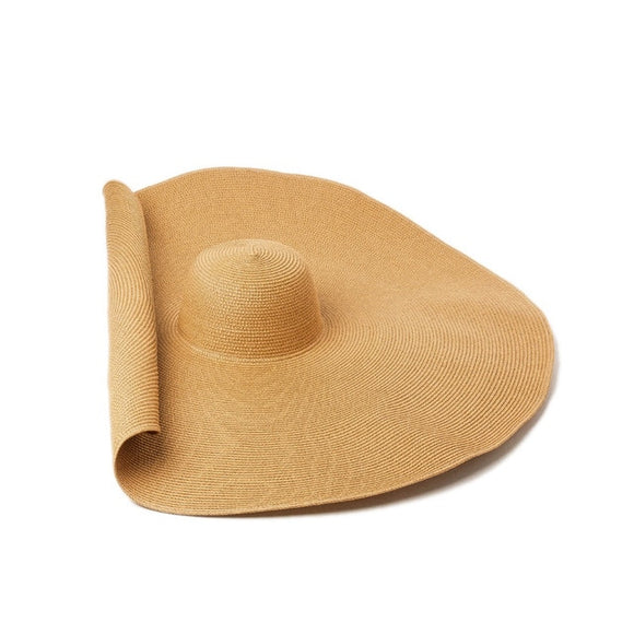 Super Bigger Brim Wide Straw Hats For Women Foldable Paper Beach Hat