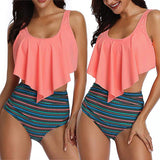 Swimming Suit For Women Swimsuit Plus Size Backless Halter Beach Print Swimwear