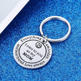 Thank You Keychains Mother's Day Key Chain Mom Gift  for Birthday Wedding Appreciate for Mother Mama Stepmother from Daughter