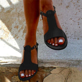 Soft Gladiator Casual Summer Shoes Female Flat Plus Size 35-44 Beach