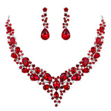 Bridal Jewelry Set Women Bijoux Femme Mariage Collier Colares Weddings Party Iced Out Necklace Earrings Dubai Indian