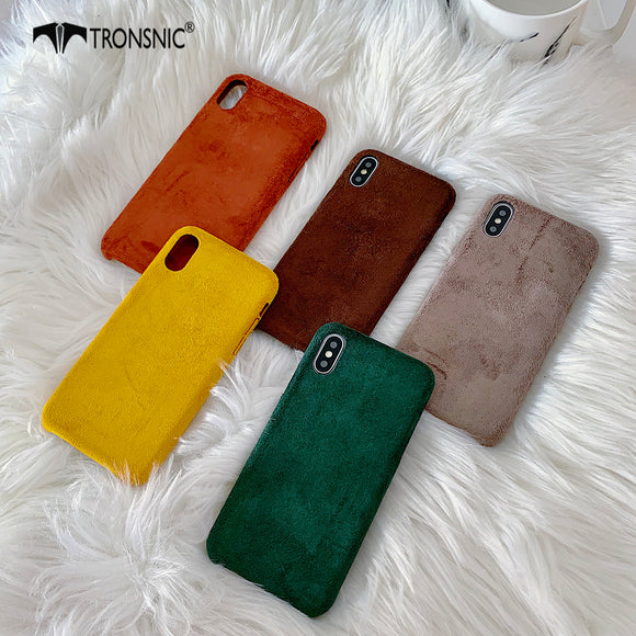 Velvet Green Fabric Phone Case for iPhone 11 Pro Max XR X XS MAX Soft Wine Cloth Luxury Cases for iPhone 6 6s 7 8 Plus Cover Hot