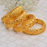 New Fashion lady Luxury Gold Color Jewelry Bangles Ethiopian African Women Dubai Bracelet Party wedding Halloween Gifts